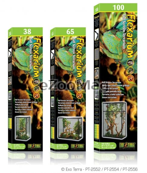 Exo Terra Flexarium Full Screen Terrarium PT-2556  - 76x42x122 cm