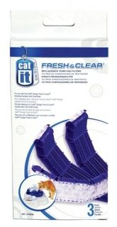 Hagen  Catit Design Fresh & Clear Purifying Filters 50056 3 pack